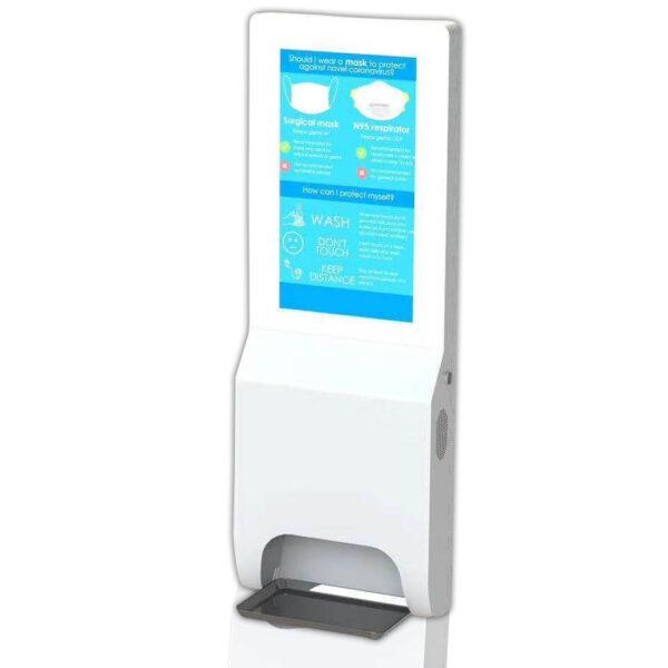 Señalización digital con servicio de higiene